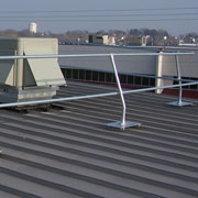 BlueWater Manufacturing Featured Product: Standing Seam Metal Roof Guardrail