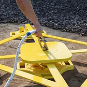 BlueWater Mobile Fall Restraint Anchor Point Offers Simplified Rooftop Safety