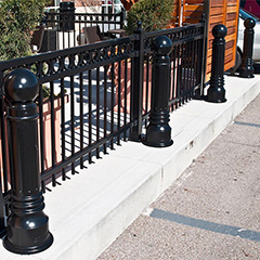 Bollard fencing? Perimeter security with bollards, fences, and walls