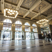 Boon Edam Revolving Doors Fill Stockholm Central Station with Light While Complementing Historic Architecture