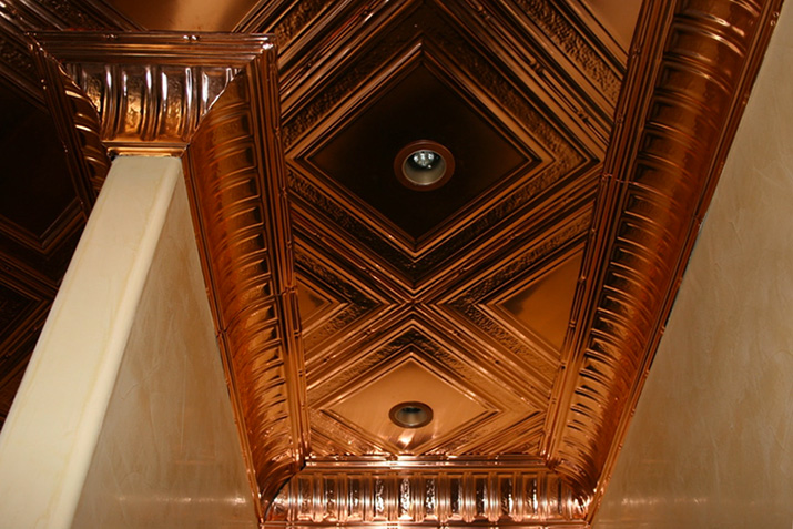 Bring copper ceiling tiles into your home easily with these installation tips