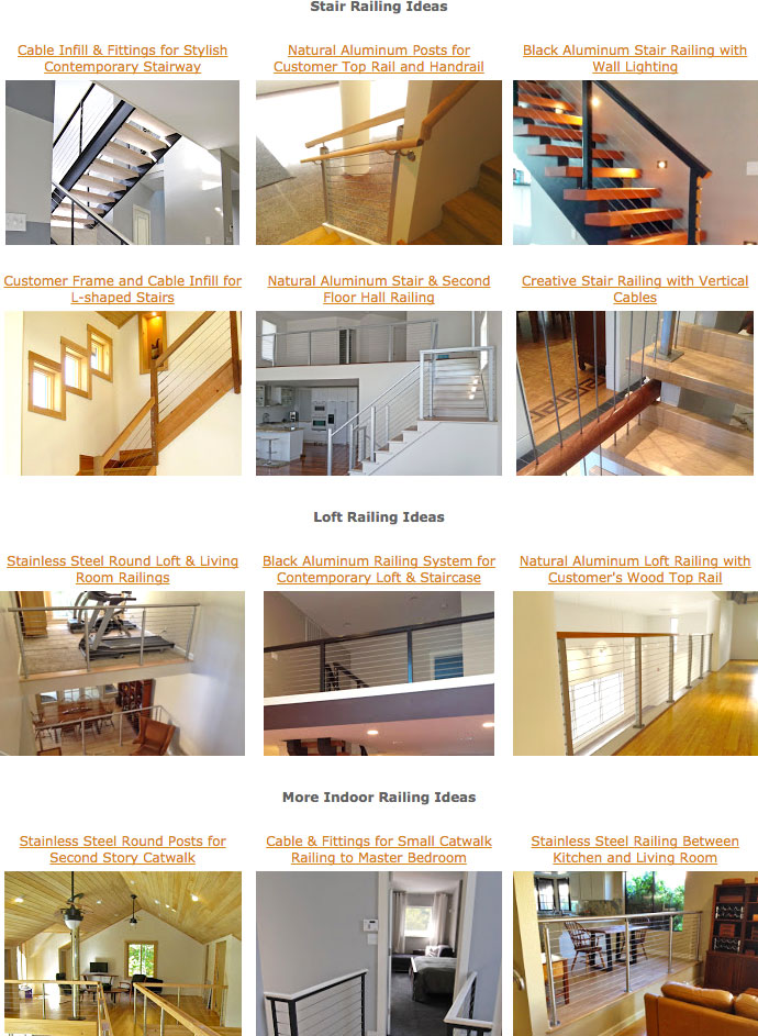 Cable Infill & Fittings for Stylish Contemporary Stairway by Stainless Cable & Railing Inc.