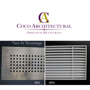 "Coco Architectural Offers ""Free Air Percentage"" Grilles"