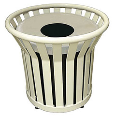 Commercial trash receptacles to reduce litter and promote recycling