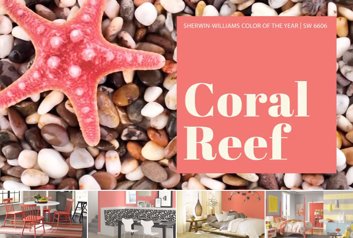 "Coral Reef: Add ""some vibrancy and color to your surroundings"" and ""uplift your spirits."""