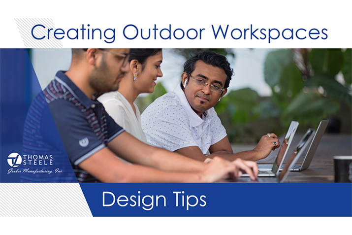 Create an outdoor workspace | design tips & furnishings selection