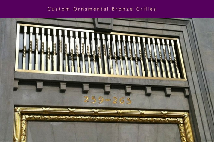 Custom Ornamental Bronze Grilles