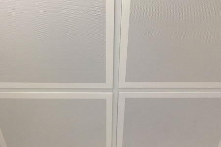 Micro Perforated Acoustical Aluminum Ceiling Tile with Soundtex