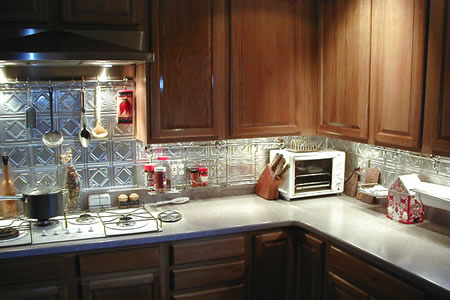 Tin Backsplash Tiles (Sheets) from Decorative Ceiling Tiles ...