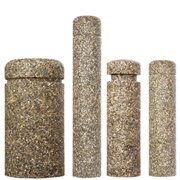 Decorative Concrete Posts are Reinforced with Steel for High-Impact Security