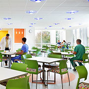 Delray Semi-Recessed Downlights at East Tennessee Children's Hospital