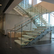 Delta glass railings systems by Global Glass Railings