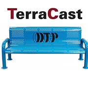 Deluxe Multi-Color Personalized Benches from TerraCast Products