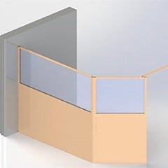 Designing and Manufacturing Modular Radiation Shielding Barriers and Walls