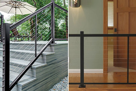 DesignRail Aluminum Railing Kits for CableRail