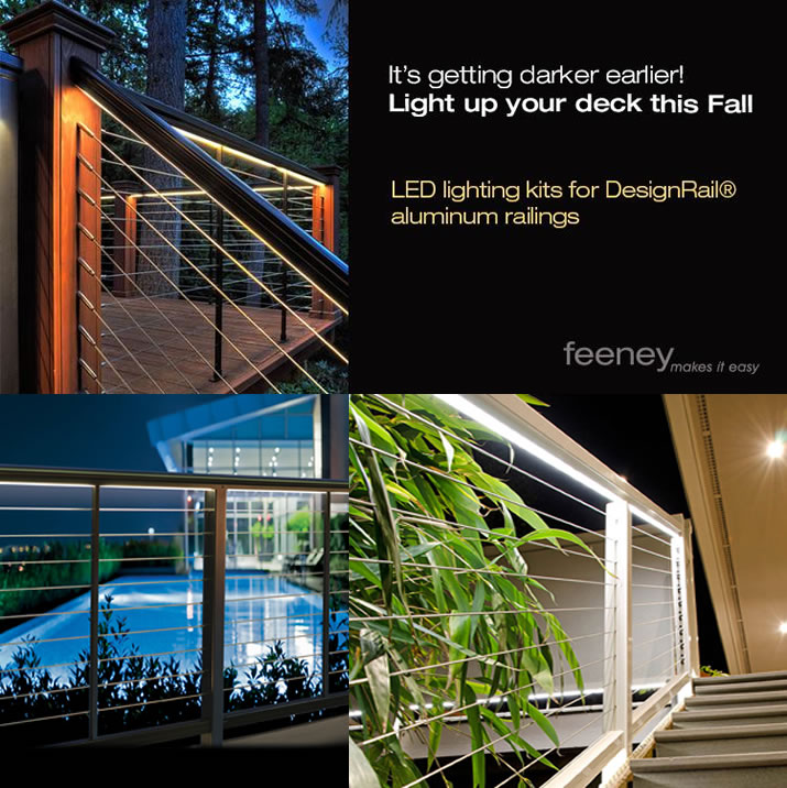 DesignRail® Lighting Kits - See the night in a whole new light!