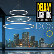 Dos iO Circular LED Fixtures Create a Halo of Light