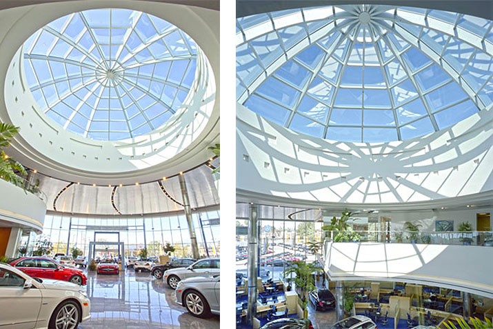 Durable skylight finishes by Linetec