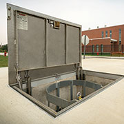 Elaborate Utility Plant at VA Hospital Includes Bilco Doors