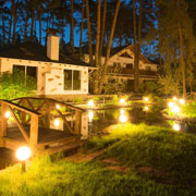 Emphasize the beautiful commercial property with Resin Landscape Lighting
