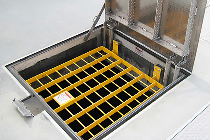 Fall Protection Grating for Floor Access Doors