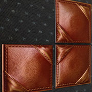 Faux Leather Interior Wall Panels from Decorative Ceiling Tiles