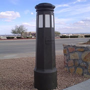 Federal Security Series Bollard at White Sands Missile Range Project