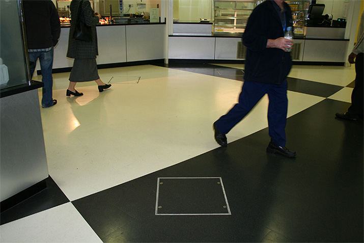 Floor access covers for flexible floor finish