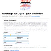 Free Engineering Webinar for PDH Credits: Waterstops for Liquid Tight Containment
