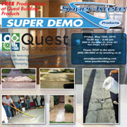 Free Super-Krete Demo at Quest Building Materials!