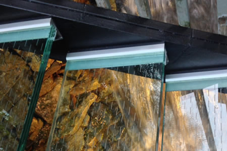 Glass Stair Treads Add Impact To A Dramatic Landscape Water Feature In  Columbus Ohio