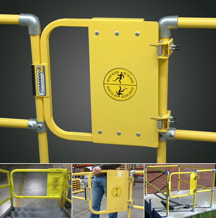 GuardDog Self-Closing Gate uses two stainless steel torsion springs so the gate can open in any direction