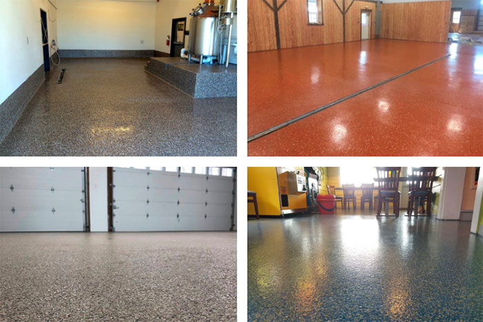 Hermetic Flake Flooring Systems for Commercial, Industrial and Residential Spaces
