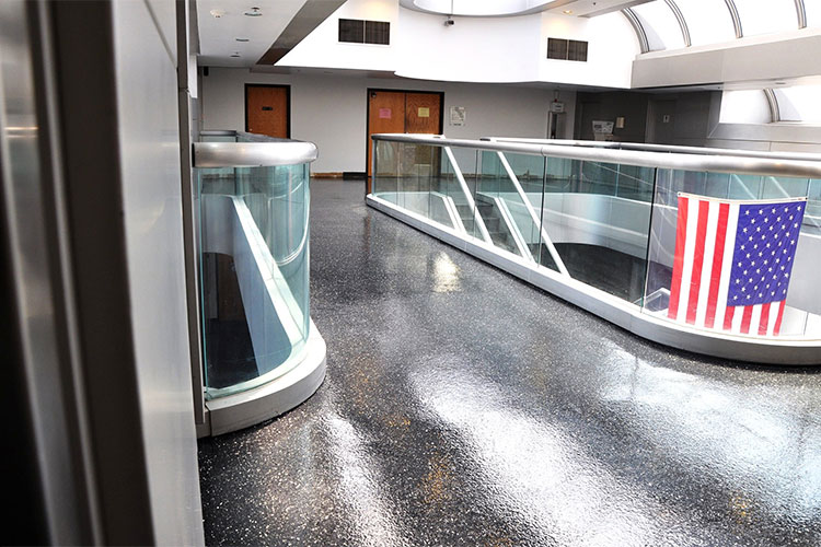 Architect specified a HERMETIC™ Flake Floor instead of terrazzo in this airport terminal. The cost savings was substantial.