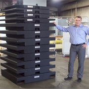 "Hoist & Crane Company Takes Delivery of ""BLACK BEAUTY"" Stackable Test Weight System"