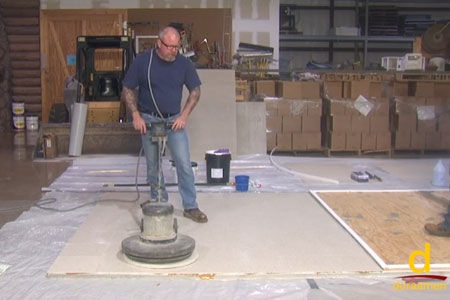 How to Encapsulate Vinyl Tile with a Concrete Topping