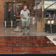How to install designer epoxy coating system - Part 4