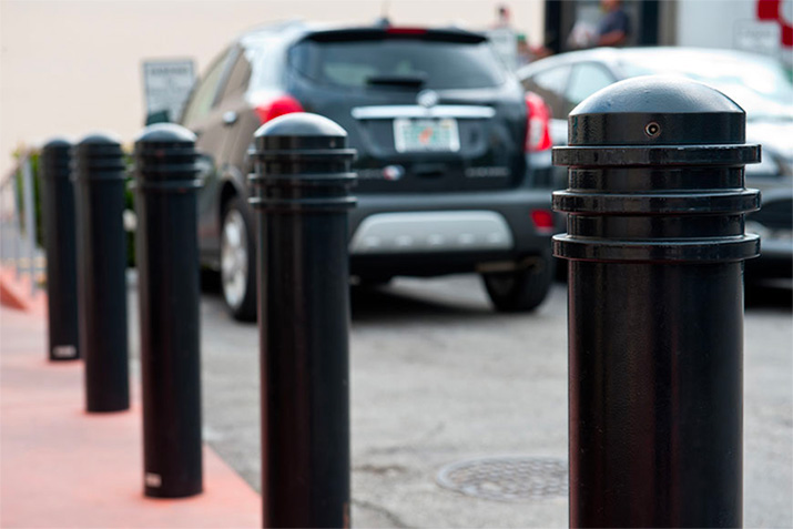 How to select parking bollards to increase driver awareness and pedestrian safety