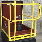 LadderPort  Caged Roof Hatch Grab Bar with Gate