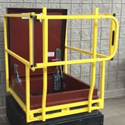 Caged Roof Hatch Grab Bar with Gate