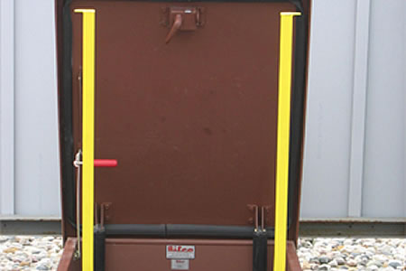 Roof Hatch Safety Grab Bars From Ladderport On Aecinfo Com