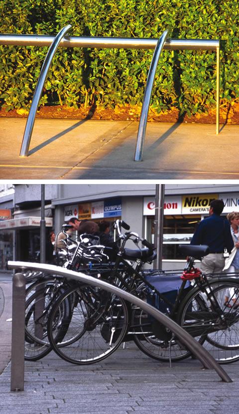 Aecinfo Com News Landscape Forms Adds Polished Steel Bike