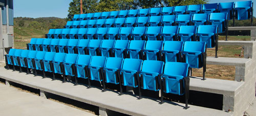 Liberty Stadium Seats, Lincoln County High School,  West Virginia by Preferred Bleachers and Theater Seating