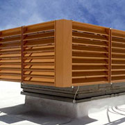 Louvered Roof Equipment Screens from Architectural Louvers