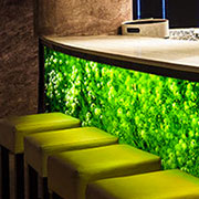 LumiSplash™ Decorative Laminates with LED Edge Lighting