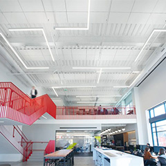 LYRA PB Direct-Apply Acoustical Ceiling and Wall Panels provide sustainable and acoustical options