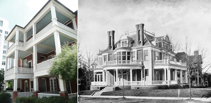 The house in 2010 and 1899: Courtesy Margaret Mitchell House