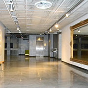 Metallic epoxy coating used at New World Stages, NYC
