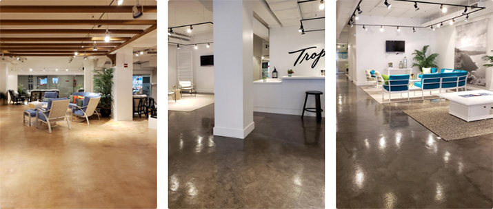 Microtopping Floors in Retail Furniture Stores