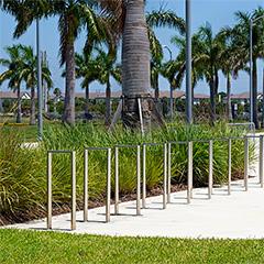 Modern bike racks add style to secure bike parking